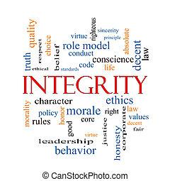 integridad, palabra, nube, concepto
