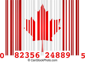 Canada barcode - Concept vector illustration of a barcode...