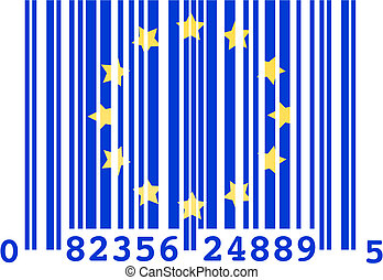 European Union barcode - Concept vector illustration of a...