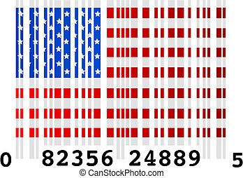 United States barcode - Concept vector illustration of a...