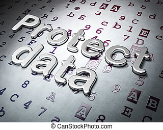 Privacy concept: Protect Data on Hexadecimal Code...