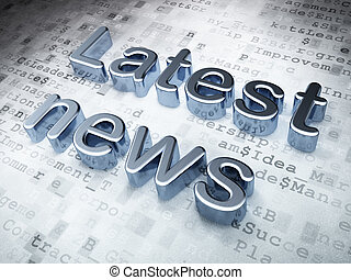 News concept: Silver Latest News on digital background, 3d...