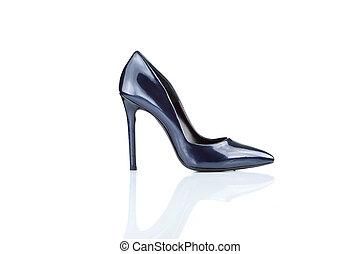 alto, femininas, calcanhar, sapato