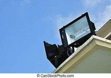 Outdoor Floodlight  - Floodlight on the roof