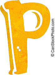 cartoon letter P