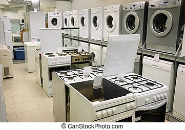 home appliance store - washing machines, stoves and ovens...