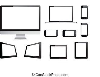 Media Devices Technology Vector - This image is a vector...