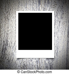 Photo frame on White wood texture background