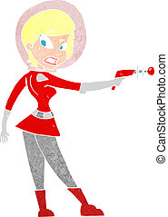 cartoon sci fi girl