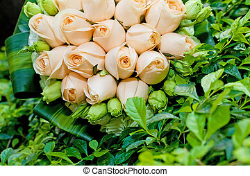 Beautiful bouquet of flowers ready for the big wedding...