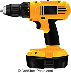 Electric drill with battery - Hand electric drill with...