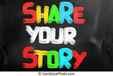 Share Your Story Concept