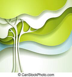 抽象的, 春, 木