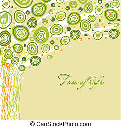 Abstract tree of life Vector illustration in soft colors
