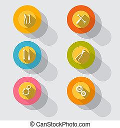 Circle Tools Vector Icons