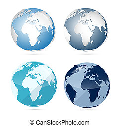 Earth World Globe Map Icons