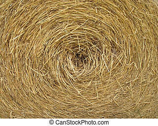cyclic straw - rice straw in round shape