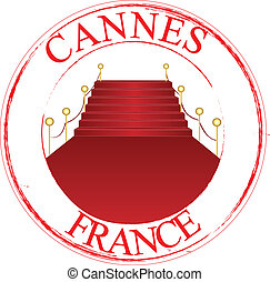 France Cannes - Stamp Cannes red