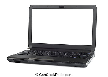 Ultramodern Black Laptop - New black laptop isolated with...