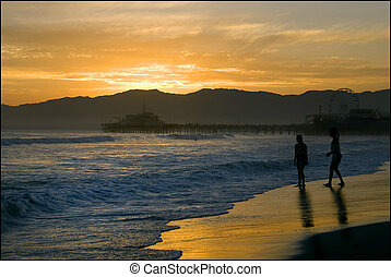 Along tthe Beach - Santa Monica Beach