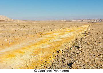 Negev Desert - Dirt Road of the Negev Desert in Israel
