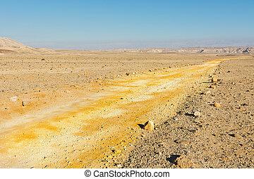 Negev Desert - Dirt Road of the Negev Desert in Israel