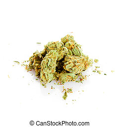 marijuana isolated on white background