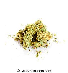 marijuana isolated on white background - marijuana isolated...