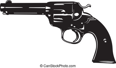 Revolver - This is a vector illustration of an old revolver.