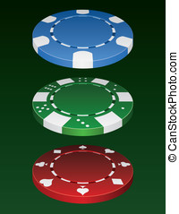 Poker Chips - These are three different vector poker chips.