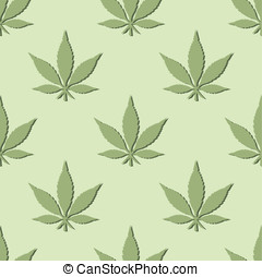 Pot Leaf Wall Paper - This is a seamless vector pattern of...