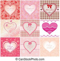 Arrival labels with cute hearts