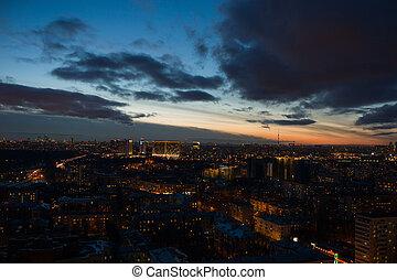 Sky over a city