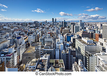 Nagoya, Japan Cityscape - Nagoya, Japan cityscape in the...