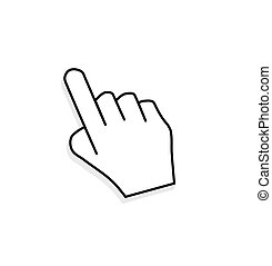 Hand cursor.  - 3D hand cursor.
