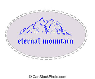 Eternal mountain - Blue mountain in ellipse