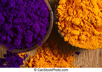 Indian pigments - Colorful, finely powdered Indian pigments...