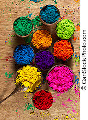 Indian pigments - Colorful, finely powdered Indian pigments.