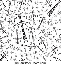 electricity pole seamless pattern