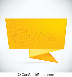 Speech bubble - Abstract origami speech bubble vector...