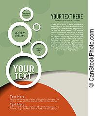 Brochure Design - Background with wave - brochure design or...