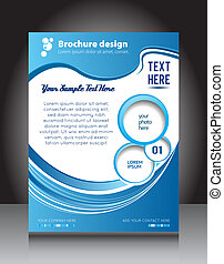 Abstract background for brochure design - Corporate brochure...