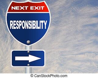 Responsabilidad, camino, señal