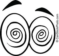 Black And White Hypnotized Eyes - Black And White Hypnotized...