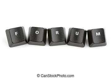 Forum Concept - Word forum formed with computer keyboard...