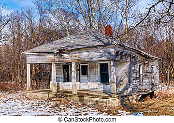 This Old House - An old abandoned home in rural Indiana has...