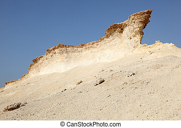 Eroded rocks in the desert of Qatar, Middle East