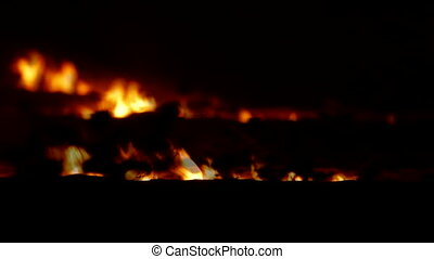 Fading Fire In Night Steppe - Fading fire in night steppe 5D...