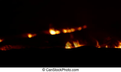 Fading Fire In Night Steppe. - Fading fire in night steppe....