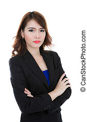 Business woman isolated on white background